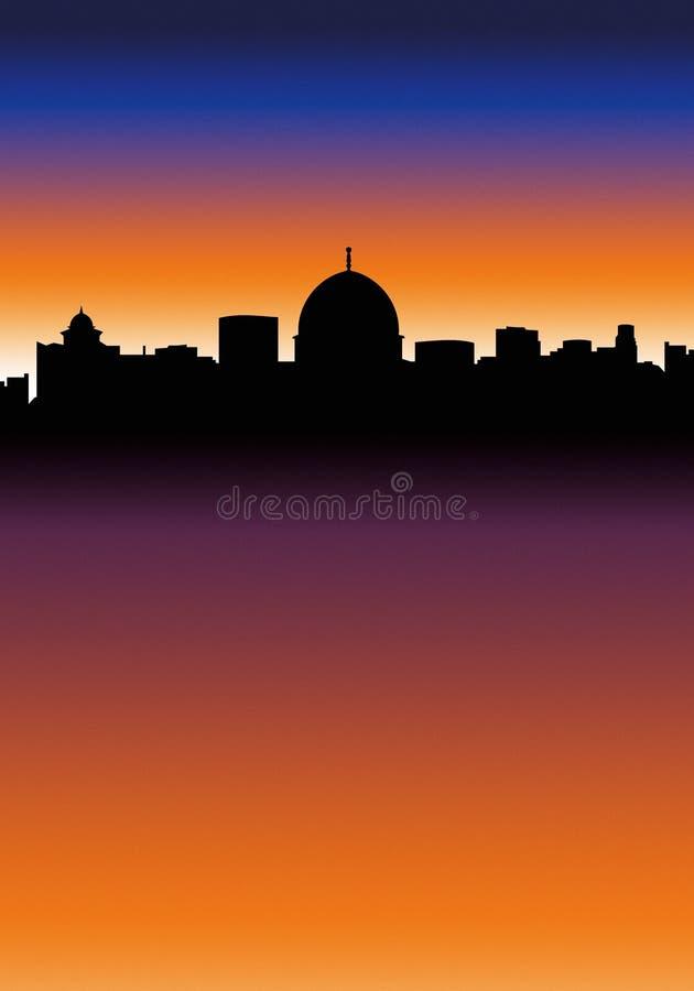 Skyline da cidade ilustração do vetor