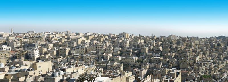 Skyline da cidade, Amman, Jordânia, curso fotografia de stock