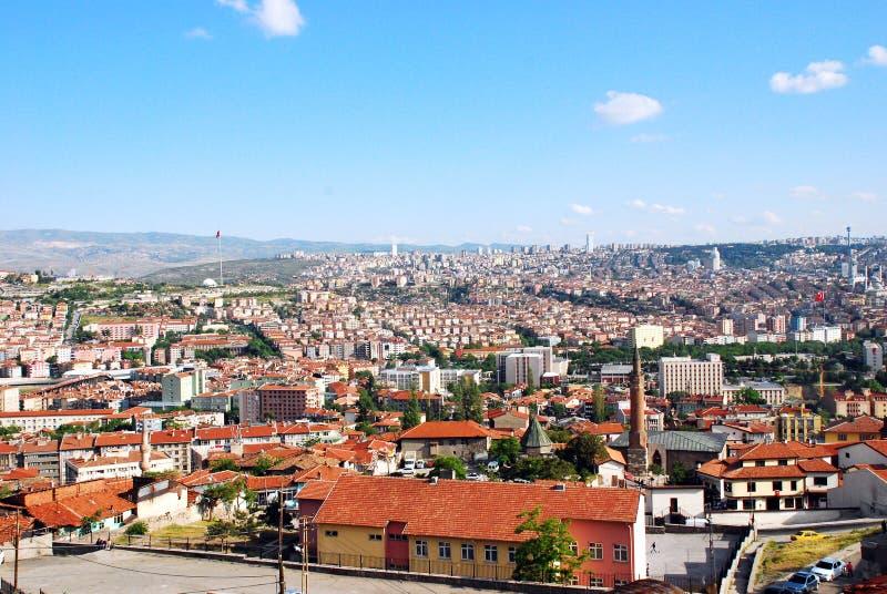 Skyline da cidade de Ancara imagem de stock