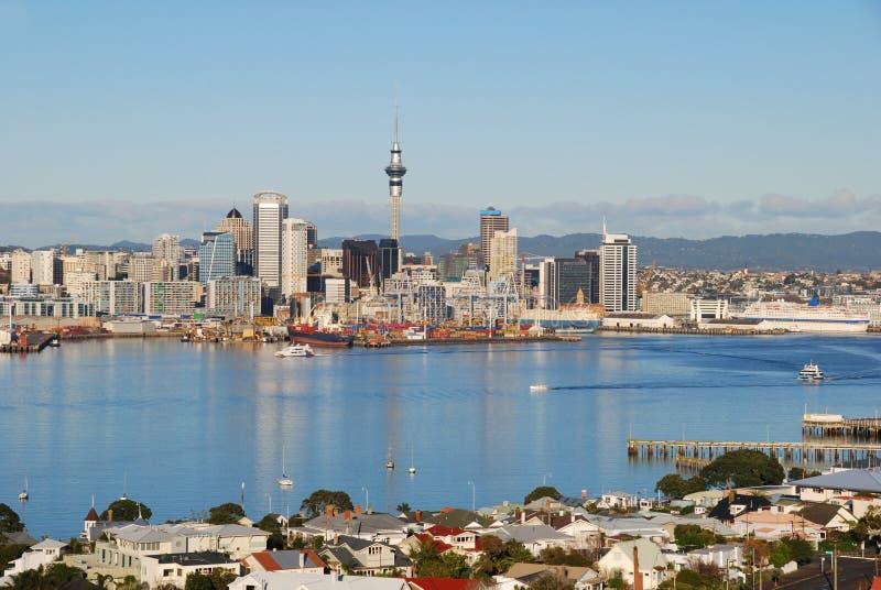 Skyline da cidade de Auckland fotos de stock
