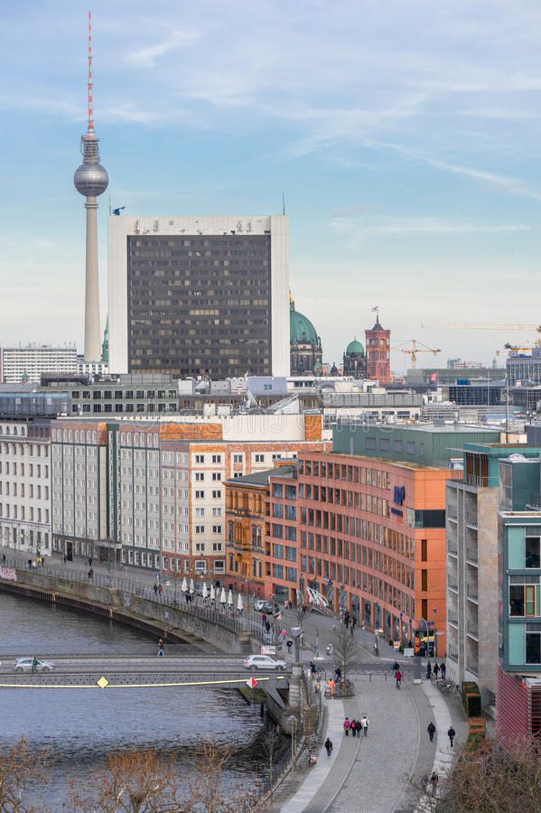Skyline da cidade de Berlim imagens de stock