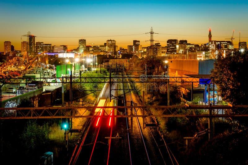 Skyline da cidade de Birmingham foto de stock royalty free