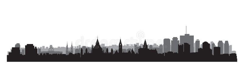 skyline da cidade de Canadá Opinião da arquitetura da cidade de Ottawa Fundo do curso ilustração stock