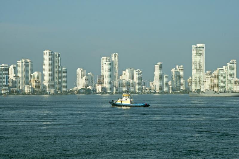 Skyline da cidade de Cartagena imagem de stock