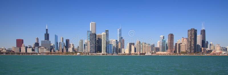 Skyline da cidade de Chicago foto de stock royalty free