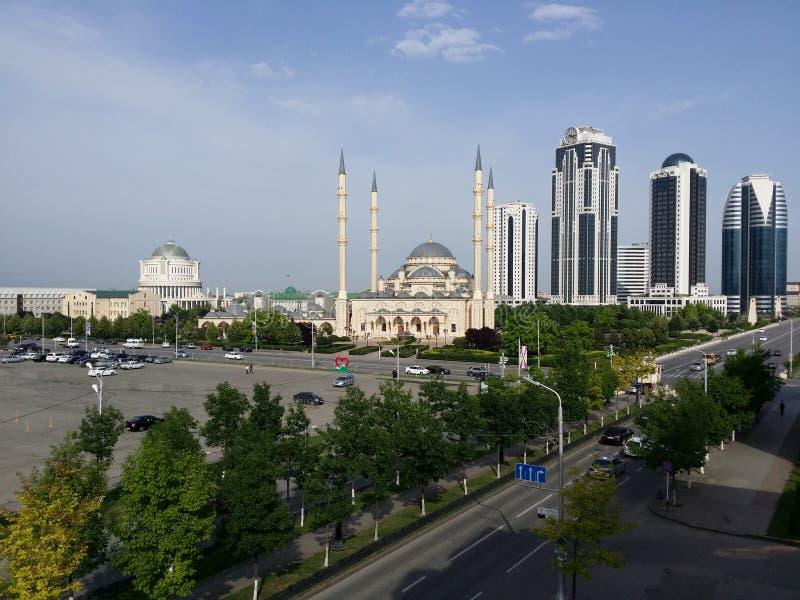 Skyline da cidade de Grozny - Chechnya imagem de stock royalty free
