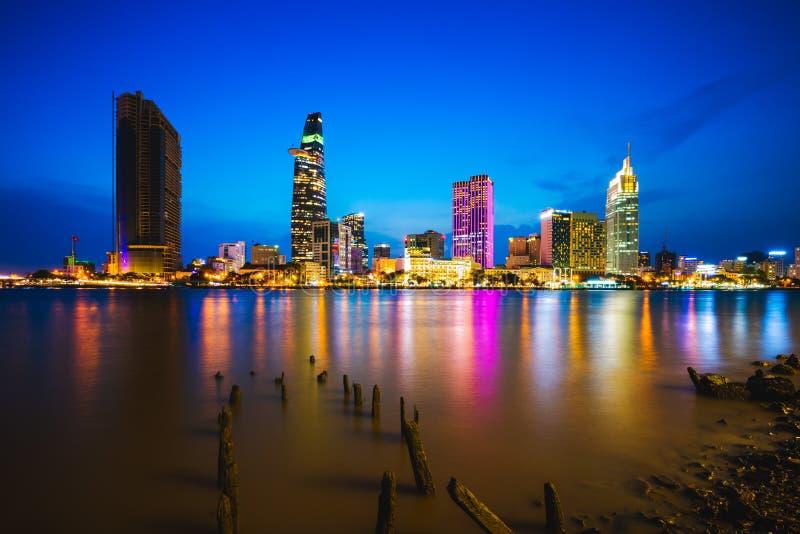Skyline da cidade de Ho Chi Minh imagens de stock royalty free
