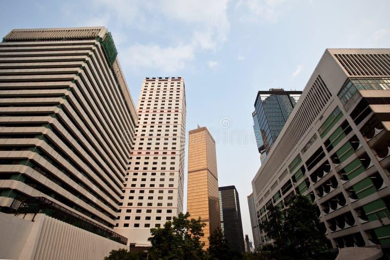 Skyline da cidade de Hong Kong fotografia de stock