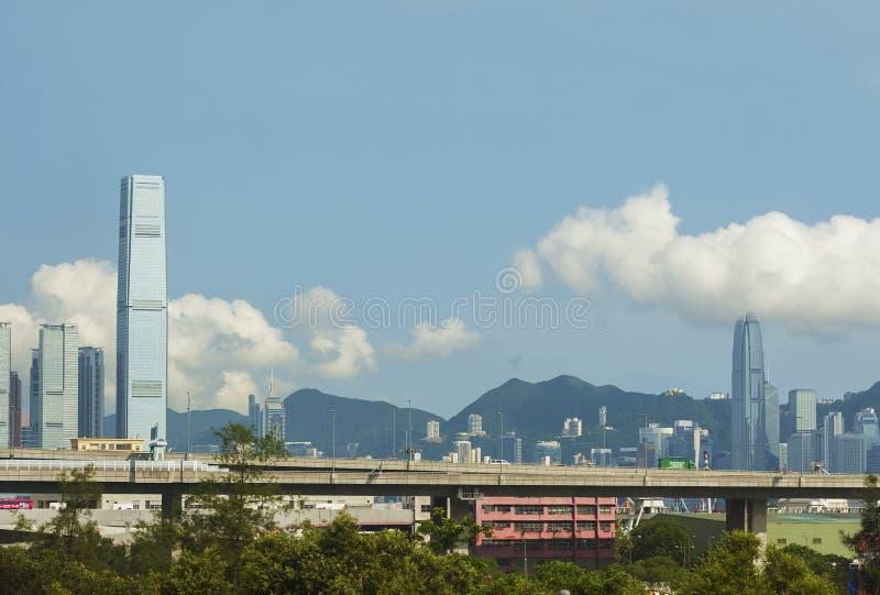 Skyline da cidade de Hong Kong foto de stock