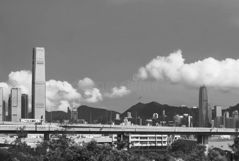 Skyline da cidade de Hong Kong fotografia de stock royalty free