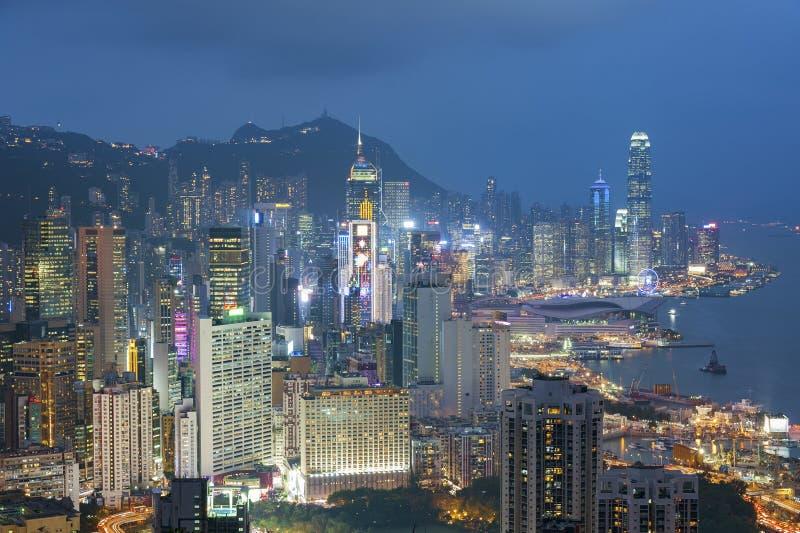 Skyline da cidade de Hong Kong imagem de stock