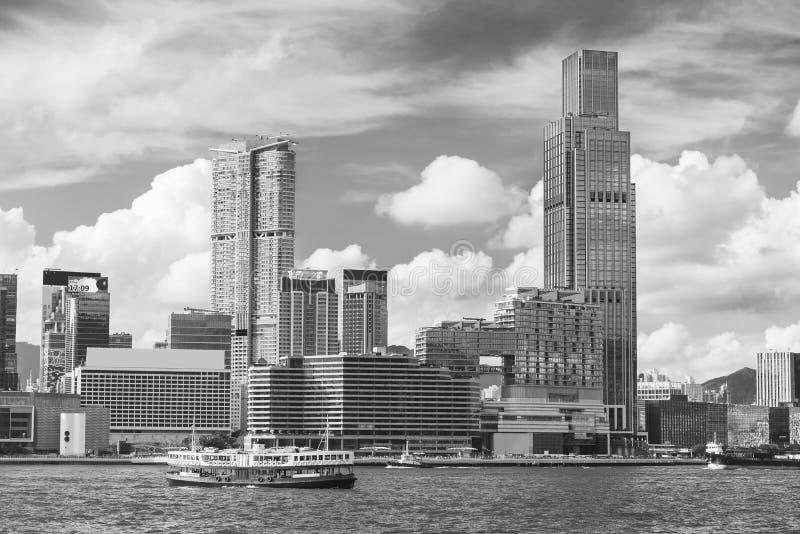 Skyline da cidade de Hong Kong imagens de stock royalty free