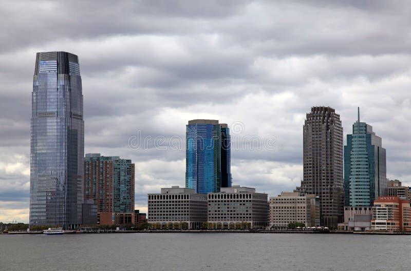 Skyline da cidade de Jersey imagem de stock