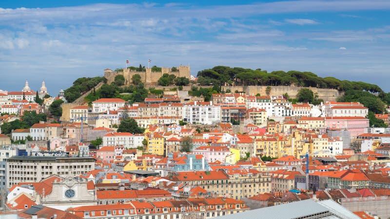 Skyline da cidade de Lisboa, Lisboa, Portugal fotografia de stock royalty free