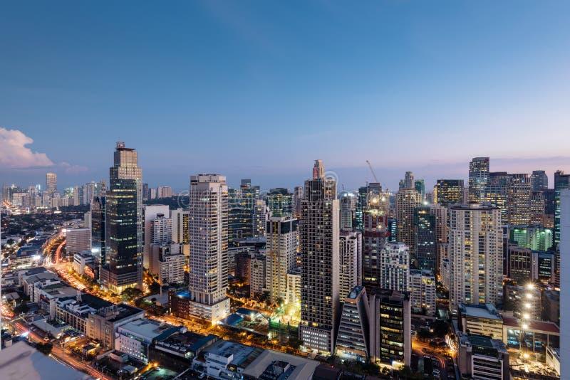 Skyline da cidade de Makati, Manila - Filipinas fotos de stock