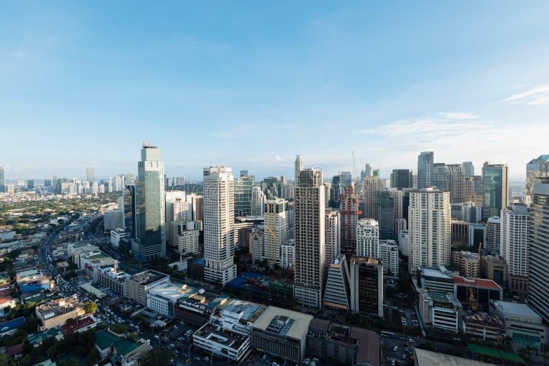 Skyline da cidade de Makati, Manila - Filipinas foto de stock