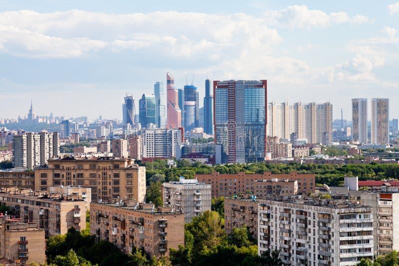 Skyline da cidade de Moscovo imagem de stock royalty free