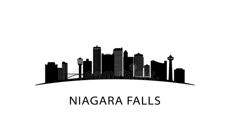 Skyline da cidade de Niagara Falls ilustração royalty free