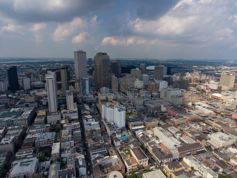 Skyline da cidade de Nova Orleães fotos de stock royalty free