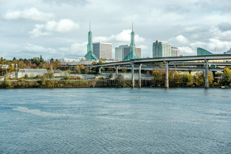 Skyline da cidade de Portland fotografia de stock royalty free