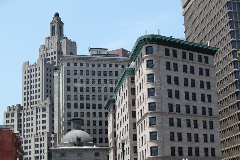 Skyline da cidade de Providence fotos de stock