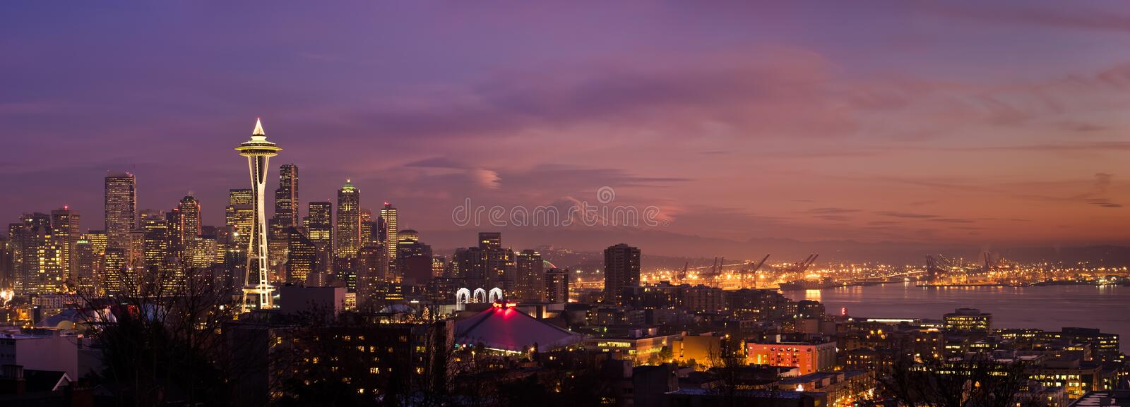 Skyline da cidade de Seattle fotografia de stock royalty free