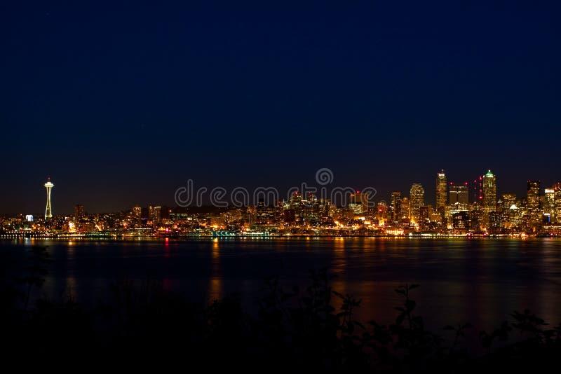 Skyline da cidade de Seattle imagem de stock royalty free