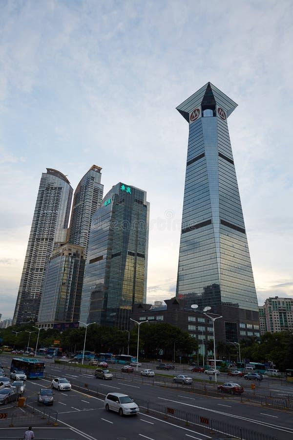 Skyline da cidade de Shenzhen foto de stock royalty free