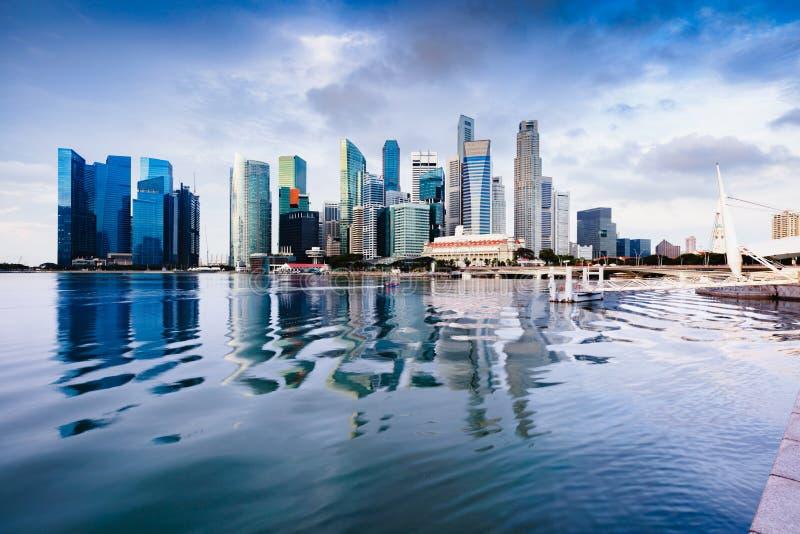 Skyline da cidade de Singapura imagem de stock
