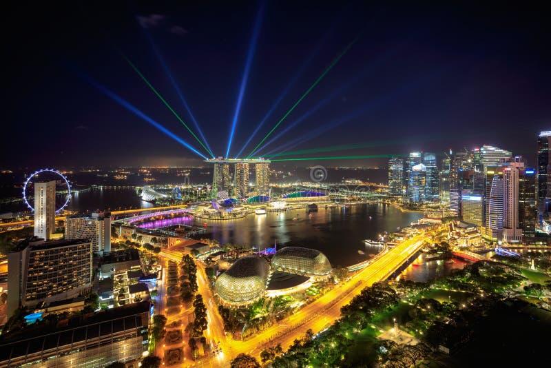 Skyline da cidade de Singapura imagens de stock royalty free