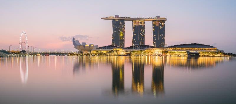 Skyline da cidade de Singapura na manhã imagens de stock royalty free