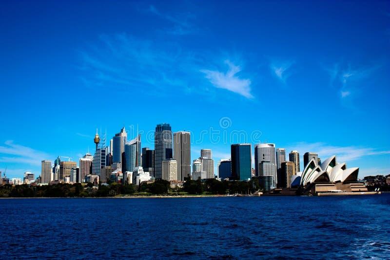 Skyline da cidade de Sydney imagens de stock