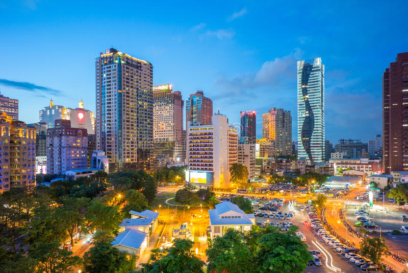 Skyline da cidade de taichung, Formosa fotografia de stock royalty free