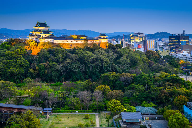 Skyline da cidade de Wakayama foto de stock royalty free