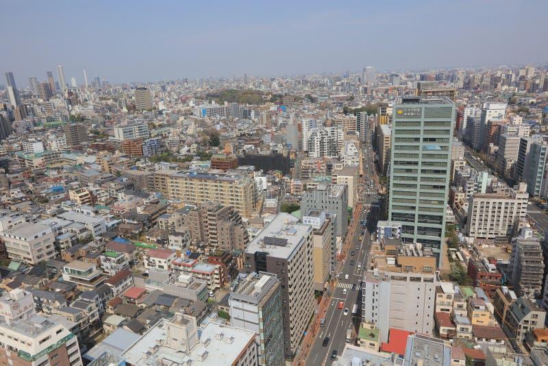 Skyline da cidade do Tóquio Opinião aérea da divisão de Bunkyo fotos de stock