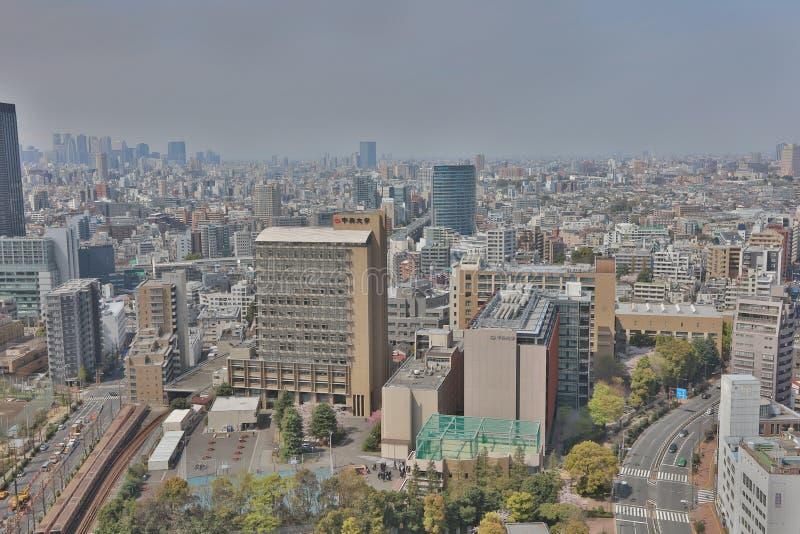 Skyline da cidade do Tóquio Opinião aérea da divisão de Bunkyo foto de stock