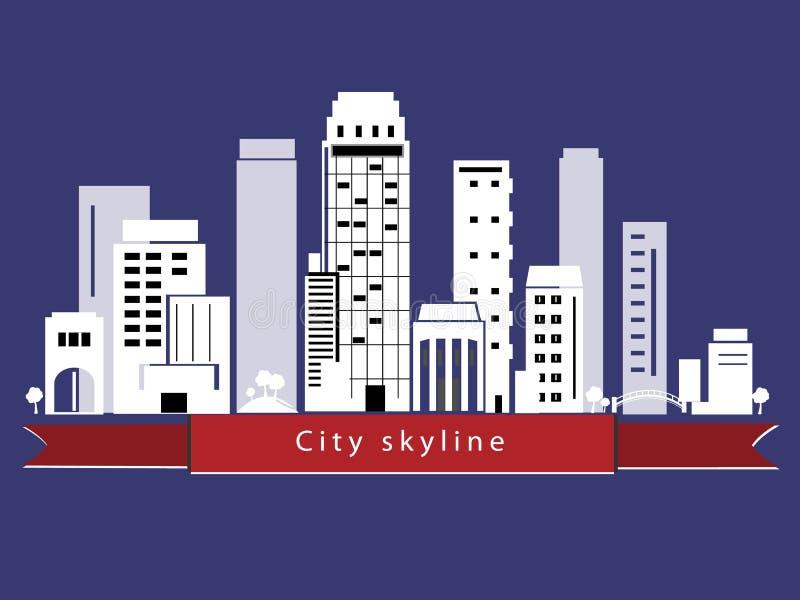 Skyline da cidade do vetor ilustração stock