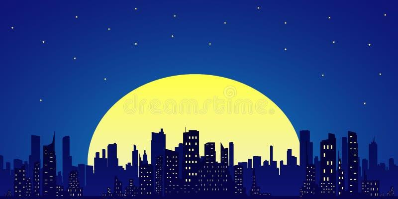Skyline da cidade Estilo liso ilustração do vetor