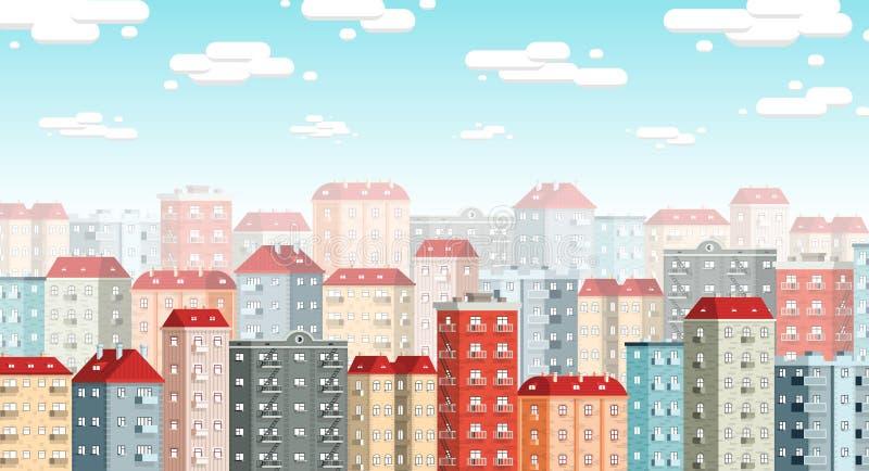 Skyline da cidade europeia ilustração royalty free