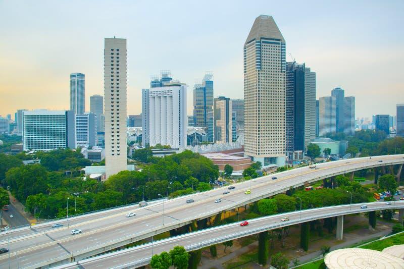Skyline da metrópole moderna, Singapura fotografia de stock royalty free