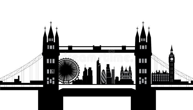 Skyline da ponte de Londres
