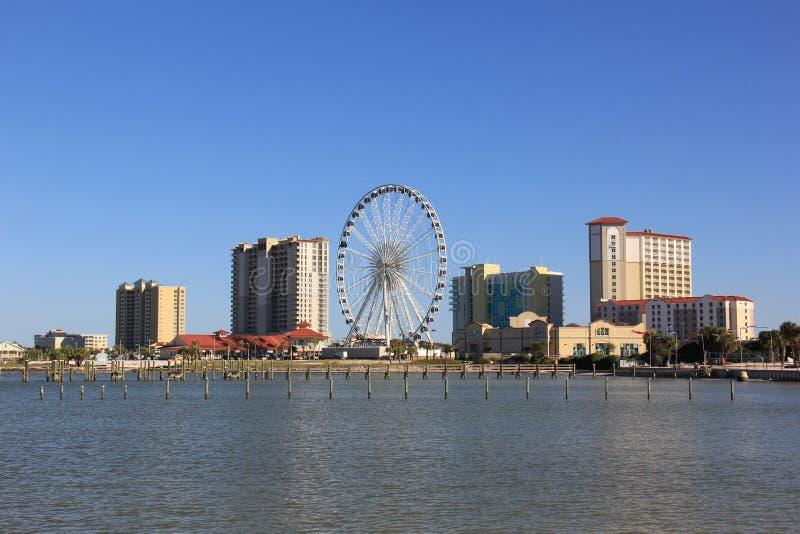Skyline da praia de Pensacola foto de stock