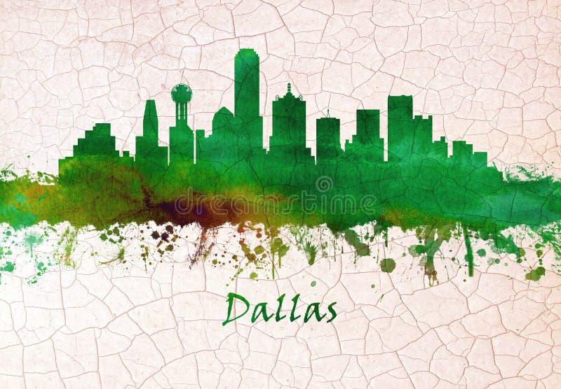 Skyline Dallas-Texas lizenzfreie abbildung