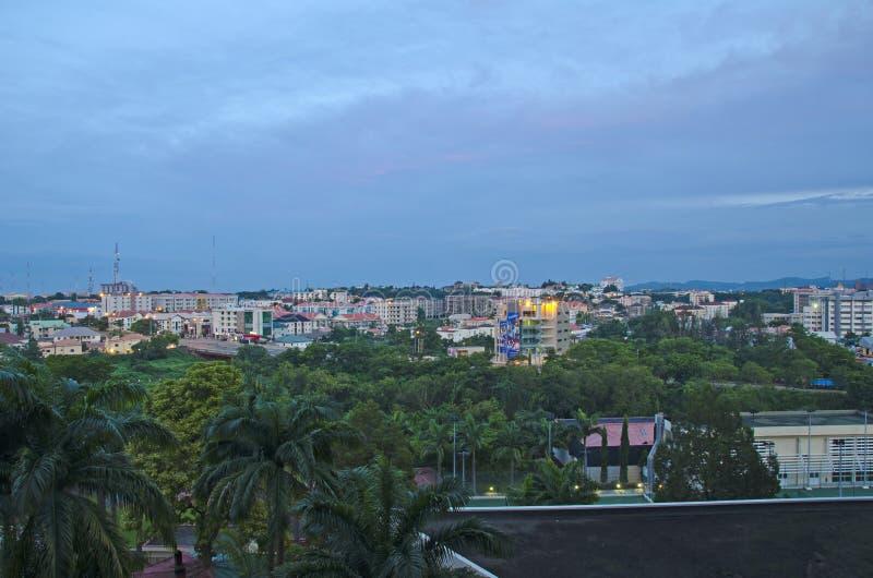 Skyline de Abuja imagem de stock