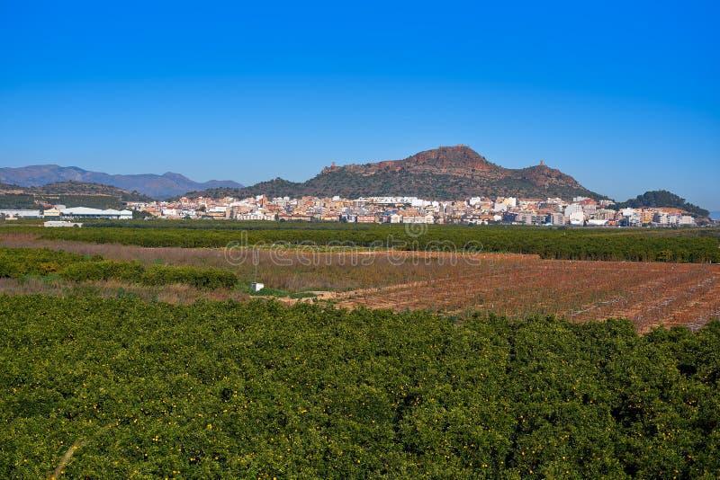 Skyline de Almenara em Castellon da Espanha imagens de stock royalty free