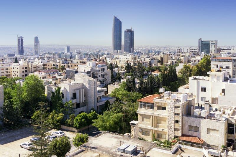 Skyline de Amman fotografia de stock