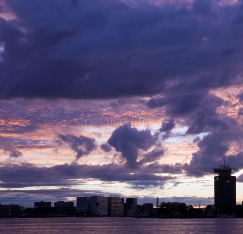Skyline de Amsterdão imagem de stock