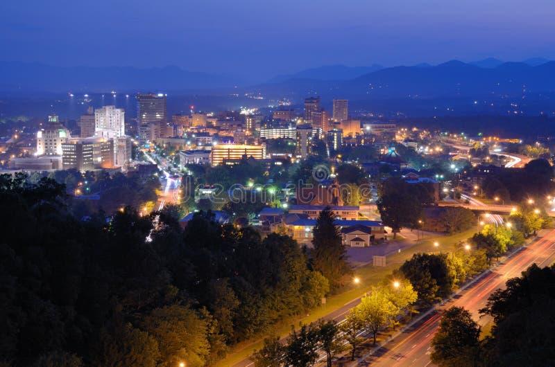Skyline de Asheville fotos de stock