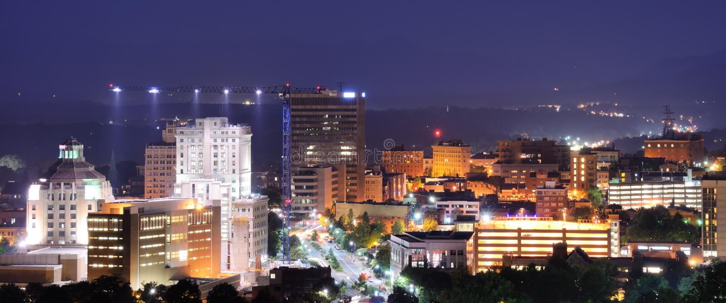 Skyline de Asheville foto de stock