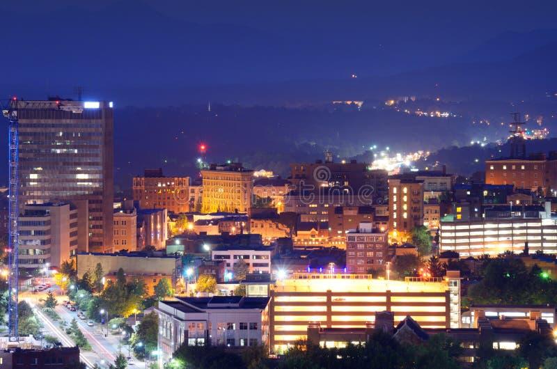 Skyline de Asheville imagem de stock royalty free